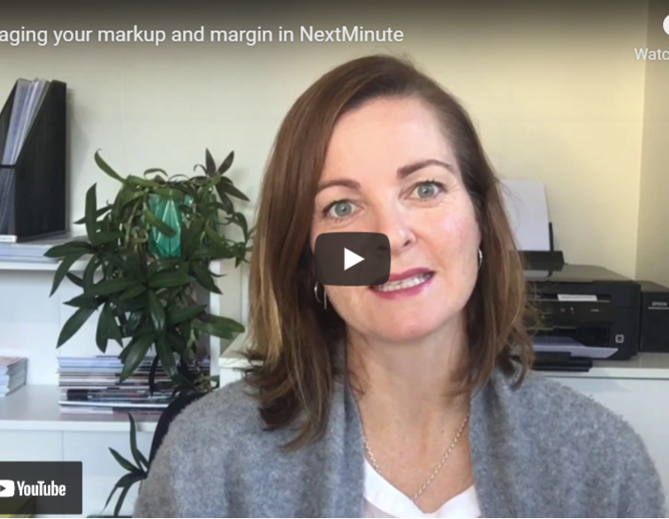Markup, Margin and custom labour rates in NextMinute